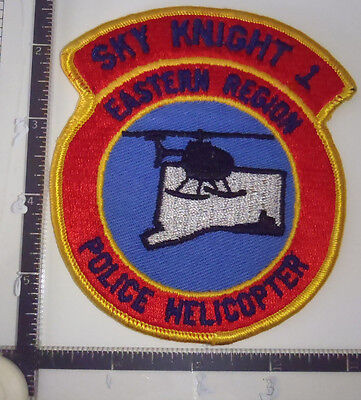 Sky Knight 1 Eastern Region Helicopter CT Police Patch CONNECTICUT old AERO