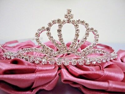 Rhinestone Tiara Crown FOR COMMUNION, FLOWER GIRL, WEDDING, Sweet 15, 16