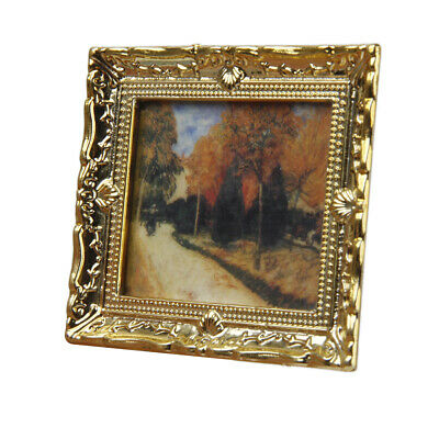 Various 1:12 Dollhouse Miniature Resin Frame Mural Wall Painting Decor Room Item