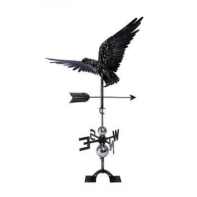 LARGE Handcrafted 3D 3- Dimensional Flying EAGLE Weathervane Roof Garden Yard