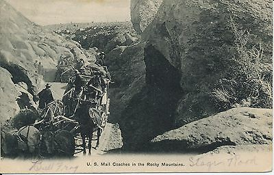 U.s. Mail Coaches In The Rocky Mountains Nevada Goldfield Cancel