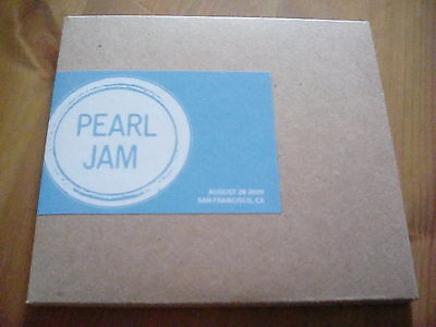 Official Bootleg Pearl Jam San Francisco 2 Disc CD Live 2009 Tour Gig