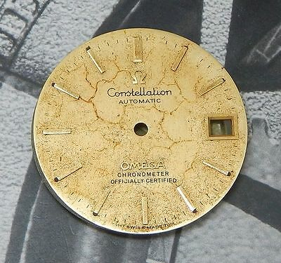 18K SOLID GOLD OMEGA Chronometer Constellation Cal.1011 Used DIAL f/ parts