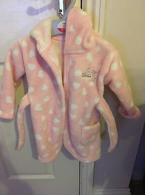Baby Girls Dressing Gown Age 9-12 Months