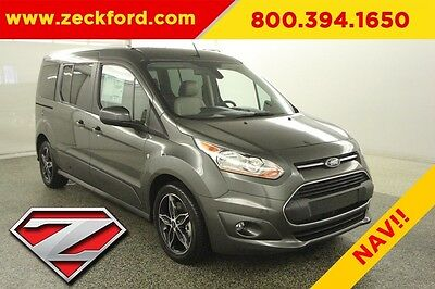 2017 Ford Transit Connect Wagon Titanium 2.5L I4 Automatic FWD Leather Heated Seats Captian Navigation BLIS Sync XM