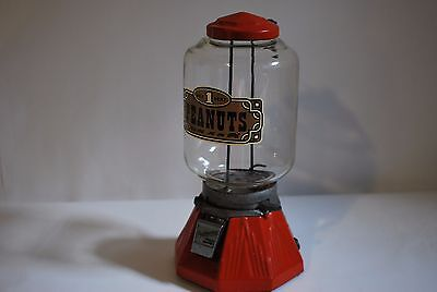 1930's Antique NORTHWESTERN 1 Cent Counter Top Vending Machine Gumbal Peanut