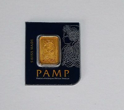 Pamp Suisse 1G (1 Gram) 24Ct Purity 999.9 Gold Bar Sealed