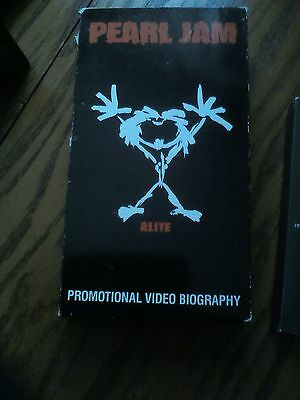 Original Pearl Jam Alive Promo VHS Video 1992 + Vedder Explains Band Name