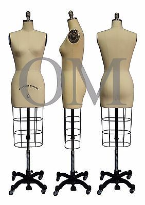 Professional Female Mannequin Dress Form, W/ Collapsible Shoulders Size 8 (cs 8)