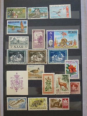 World Stamps Lot Of Mnh Over 100 Stamps