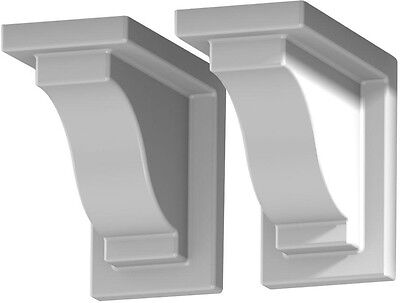 2-Pack Decorative Plant Brackets Wall Mount White Vinyl Outdoor Durable Hangers