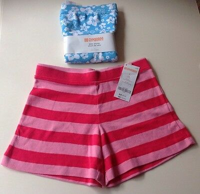 *gymboree*brand*new*2*pairs*of*girls*shorts*size*(6/7)*blue*pink*&*white*colors*