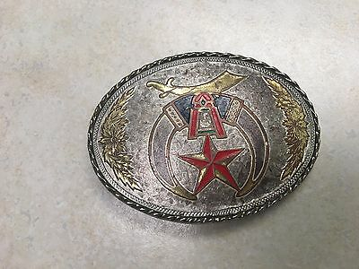 Masonic / Shriner Belt Buckle Oval Made in USA