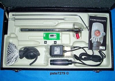 Welch Allyn 32820 Fiber Optic Sigmoidoscope With Illumination System Set; New