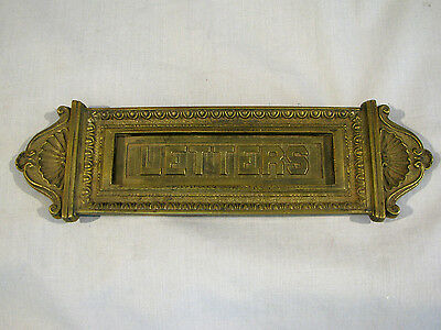 Vintage Brass Letter Box Plate - Mail Slot