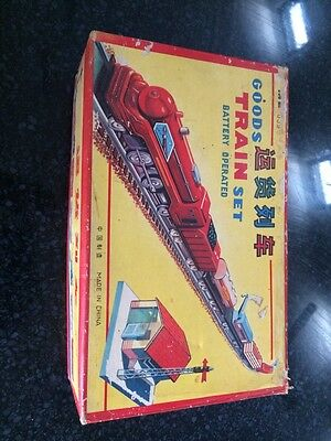 Vintage Train Set -Rare -Metal -Boxed -Rare -Vintage