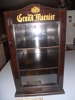 Grand Marnier Store display Wood & Lucite Advertising 3 Shelf