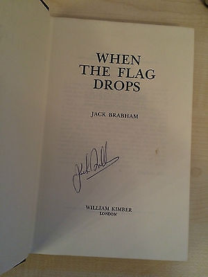 Jack Brabham When The Flag Drops Signed By Brabham