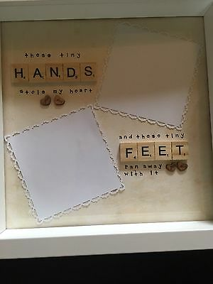 New Baby Gift Hand And Foot Print Frame