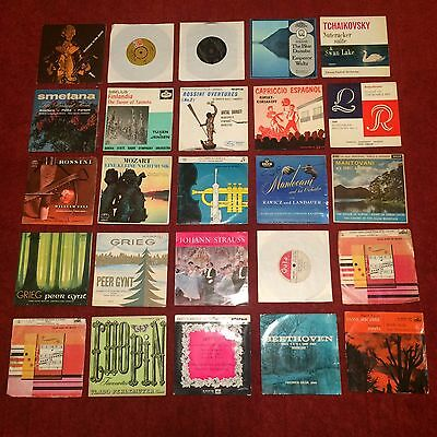 "x25 - Classical 7"" Singles - Mixed Vinyl Records Job Lot - All Listed"
