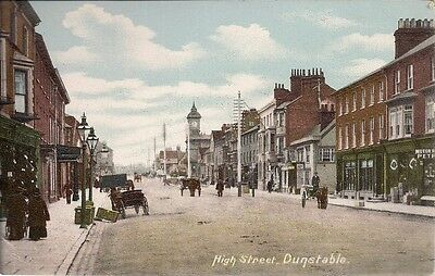 Very Nice Rare Old Postcard - High Street - Dunstable - Bedfordshire C.1908