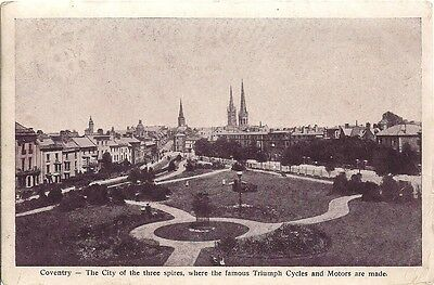 RARE OLD POSTCARD - COVENTRY - WARWICKSHIRE 1909 Triumph Cycles & Motors