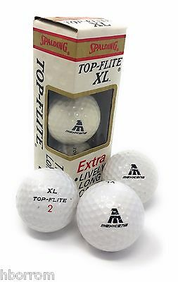 Rare collectible Mexicana airlines 1 dozen, Top-flite XL vintage golf balls