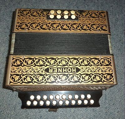 Hohner Button accordion/ melodeon