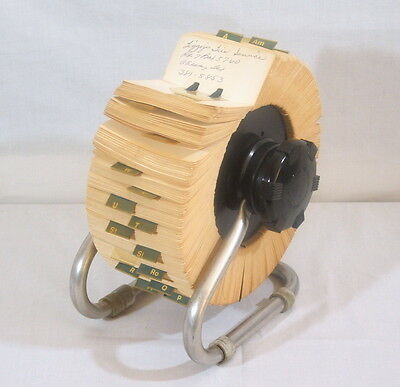 Vintage Large Rolodex Rotary Card File Zephyr American Corp Model 2400X