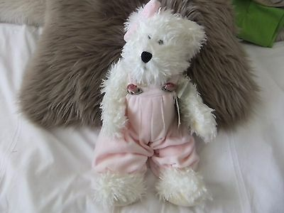 Boyds Bears J.b.bean Investment Collectables 1985/90 White Teddy Pink Romper