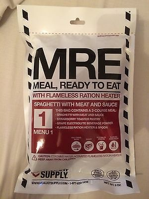 MRE US Ration Pack - Menu Choice (NEW) Spaghetti With Meat Sauce