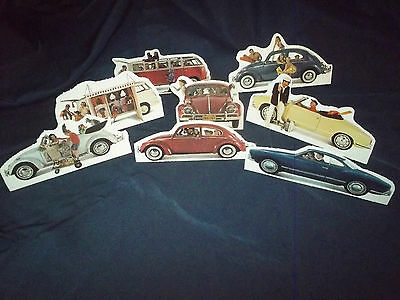 "Volkswagen VW 1967 Dealer ad VERY  RARE! ""Paper Doll"" Karmann Ghia VW Display!"