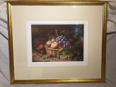 Royal Worcester Oil On Board Picture Hand Painted By F H Chivers 1917