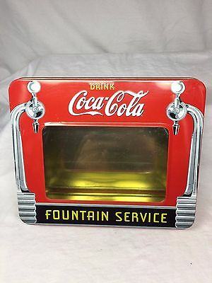 Drink Coca Cola Fountain Service Tin Box