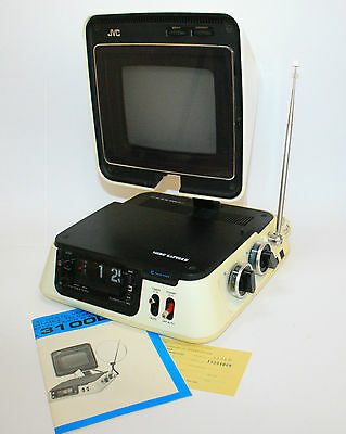 Jvc 3100D Video Capsule Iconic 1971 Clock/television Working Vintage Fernsehen
