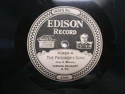 Edison Diamond Disc Record 51459 R L The Prisoner's Song Way Out West In Kansas
