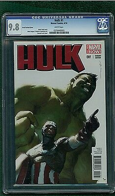 Incredible Hulk #1 (Marvel 2014) Parel Variant Cover CGC Graded 9.8 NM/MT