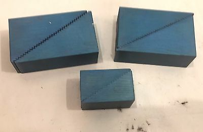 3 Aluminum Machinist Step Blocks - 2 1/2 x 1 1/2 + 4 x 2 1/2 - Set Up