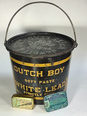 Dutch Boy Paint Can and Two Small Advertising Tins