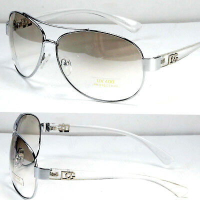 New DG Eyewear Mens Womens Fashion Designer Pilot Sunglasses Shades Clear Round