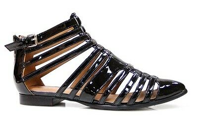 THERAPY SHOES - Norwich Patent Sandal - Black - Brand New - Size 5