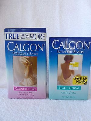 Vintage Calgon Bouquet Bath Country Lilac and Oil Beads Light Floral NOS Sealed