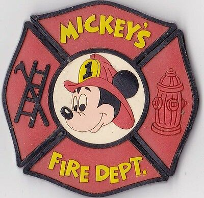 """Mickey Mouse  """"Mickey's Fire Dept."""" Fridge Magnet"""