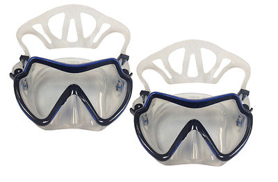 Set of 2 Diving Mask Goggles Scuba Snorkeling Water Sport Swimming Pool w/ Case