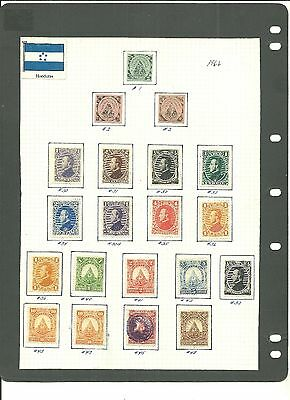 """Honduras - One Page Of Stamps Issued 1866 """" Sold As Is """""""