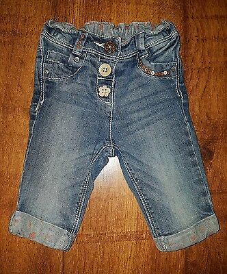 Baby Girls cropped Next jeans 6-9 months
