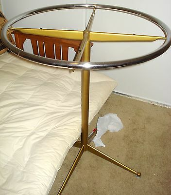 Vintage Antique Heavy Metal (Brass?) Rounders Store Boutique Clothing Rack