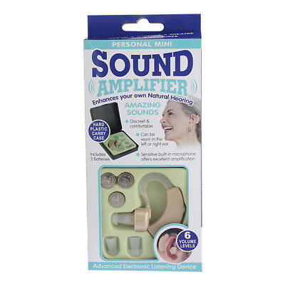 Personal mini sound amplifier hearing aid 6 volume levels discreet&comfortable