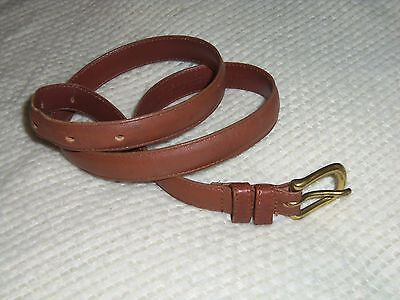 Authentic Coach Brown Genuine Leather Belt 2800 Size Medium Made in USA