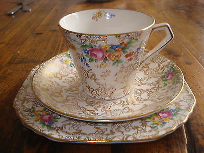 Vintage Lord Nelson Ware Desert Plate, Cup & Saucer England 2528